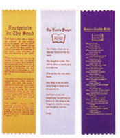 Church Bible Ribbons and Bookmarks