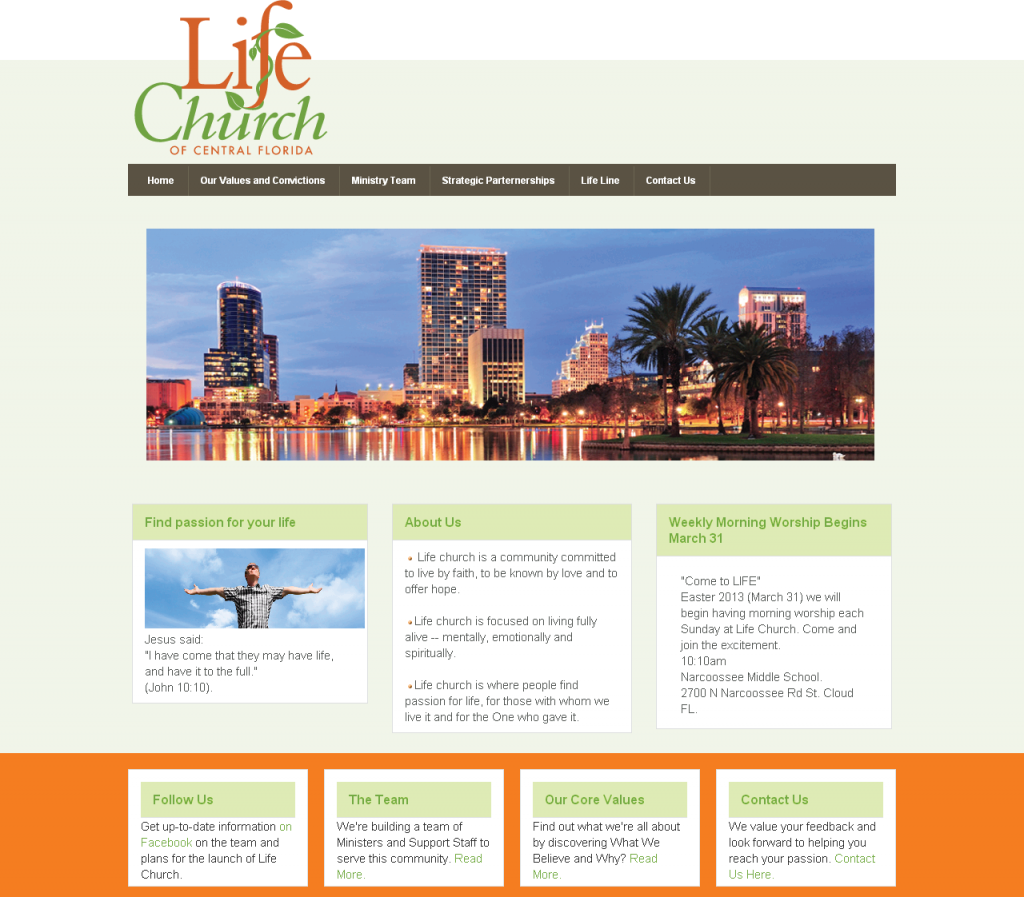 Life Church of Central Florida Web site