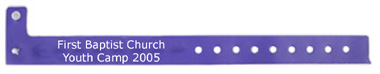 Id Control Bracelet for Church Events